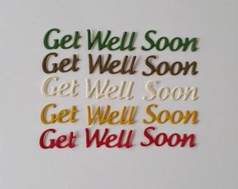 Get Well Soon Script Die Cuts