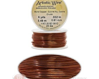 20 Gauge Copper Artistic Craft Wire 18 Feet 5.48 Meters Jewelry Beading Crafts (Free Shipping USA)
