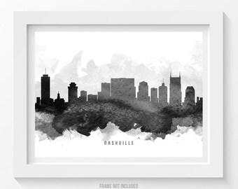 Nashville Tennessee Skyline Poster, Nashville Cityscape, Nashville Decor, Nashville  Art, Home Decor, Gift Idea, USTNNA11P