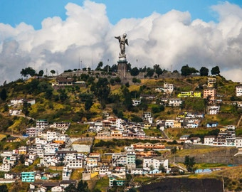Virgin of Quito, Ecuador Photo Print 8x10, 11x14, 16x20 or canvas