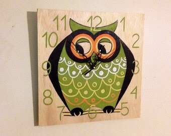 Decorative Fun clock, Hand painted wall clock, Birthday gift idea.