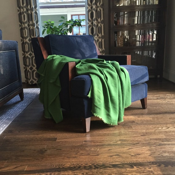 Green linen throw blanket kelly green blanket colorful bedding 4