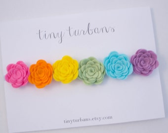 Rainbow Felt Flower Headband