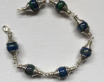 Blue/green gemstone bracelet
