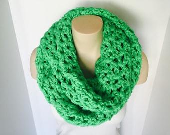 Crochet Infinity Scarf | Neon Green | iScarf v1.0