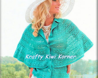 Crochet Vintage-inspired Cape - Made to Order