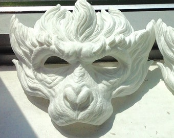 DIY SARU mask white non painted monkey mask monkey king