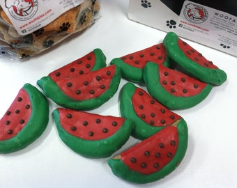 Watermelon Slice Gourmet Decorated Dog Treats 3-Pack