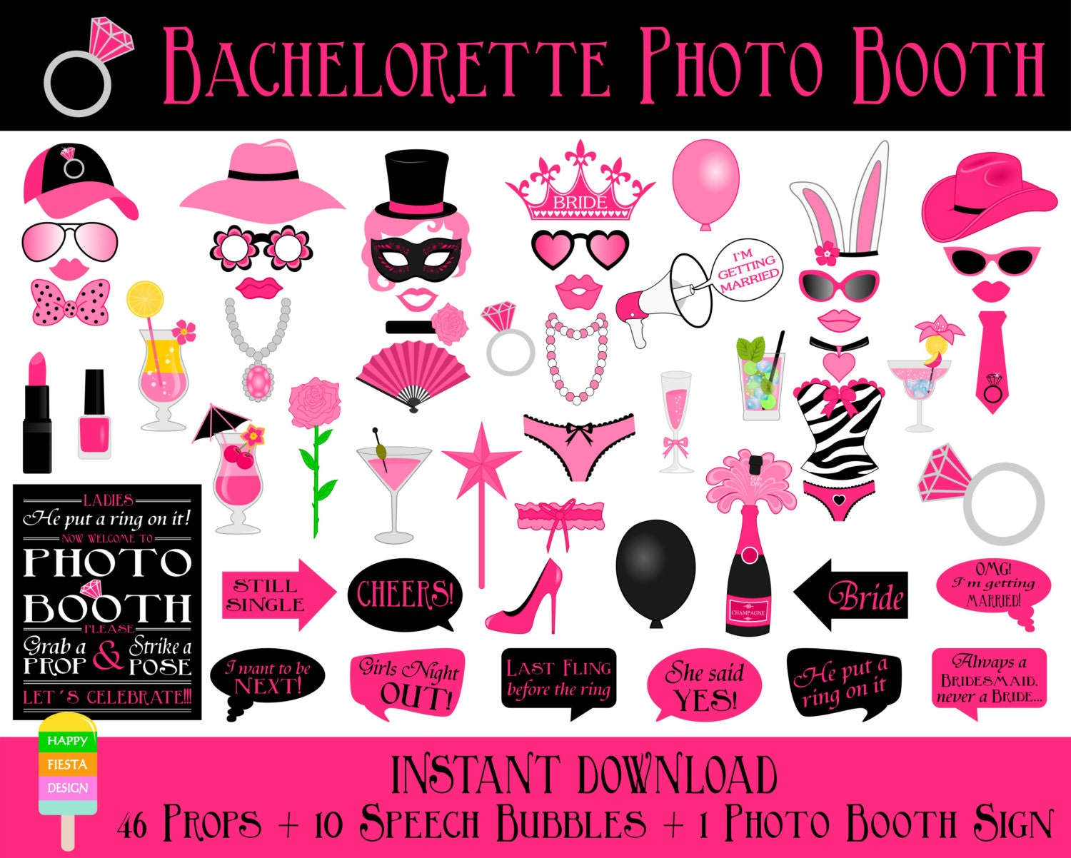 Printable Bridal Shower Photo Booth Propsbridal Photo Booth