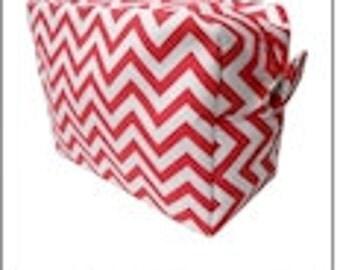 RED - Chevron Cosmetic Bag - FREE Monogram!!