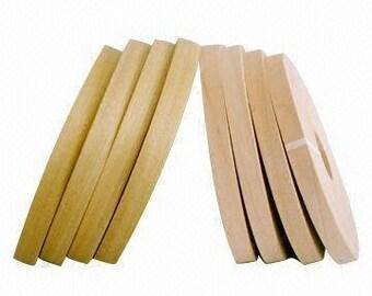 """Poplar preglued Wood veneer edgebanding [ 1/2 """"to 3""""x250']"""