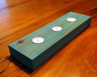 Cypress Wood Candle Holder