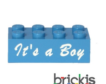 LEGO® engraved with It's a Boy baby shower gift