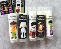 Halloween Party Favors - Set of 5 - Halloween Lip Balm - Halloween Birthday Favors - Custom Chapstick - Halloween Party -Free Customization