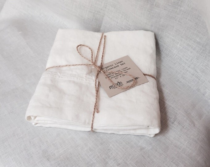 Organic Linen Pillowcase Set - Organic Linen Pillowcases - Organic Linen Bedding