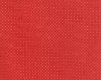 Neco Fabric, Scallops in Red, Japanese Fabric from MoMo for Moda Fabrics.