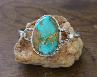 Sterling Silver and Turquoise Bracelet
