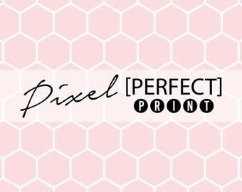 "4ft x 4ft ""Pink Honeycomb"" // Vinyl Photography Backdrop // Pink Polka Dot Backdrops // Pink Newborn Backdrop // Light Pink Backdrop (PP501)"