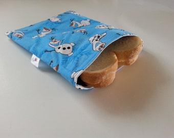 Sandwich bag or reusable snack Olaf