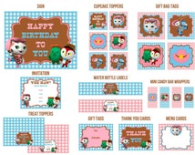 Sheriff Callie's Wild West Birthday Party printables kit - Decorations w/ Invitations - Cupcake toppers, Banner, Candy wrappers, Gift tags .