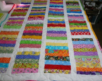 Girl Handmade Handcrafted Pieced Chinese Coin Baby Crib Throw lap Quilt 40x51
