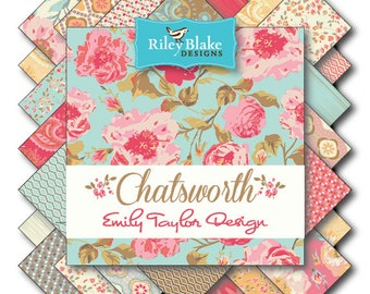 NEW PRICE!  Riley Blake CHATSWORTH Fat Quarter Bundle - 21 prints!