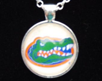 UF Florida Gator Pendant Necklace