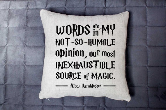Albus Dumbledore Quote | Bookish Throw Pillows
