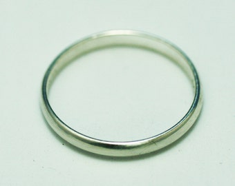 Platinum ring  4 gr  -185 best price new size 6 width- 3 mm  marked Plat - 950 PT