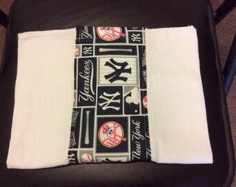 Yankees burp cloth