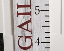 Personalized Custom Name Ruler Inspired Growth Chart - Shower Gift, First Birthday, Christmas, Family farming