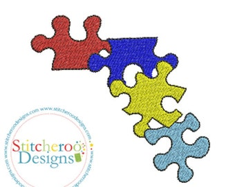 Autism Puzzle Boarder Design -In Hoop sizes  2x2,3x3,4x4,5x7- Instant Download - for Embroidery Machines
