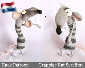 090NLY Grappige Rat Serafima - Amigurumi Haakpatroon - PDF by Pertseva Etsy