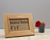 4x6 Frame, Solid Wood Frame, Natural Finish Photo Frame, Modern Picture Frame, Small Wood Frame with Stand, Wood Working, Wood Desk Decor