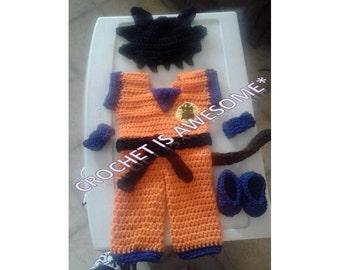 Crochet baby Goku costume