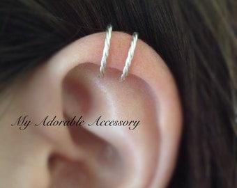 Twisted Wire Upper Cartilage Ear Cuff