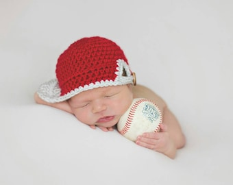 READY TO SHIP Newborn baseball hat (newborn baseball cap) (baseball Hat) (newborn photo shoot prop) (baby shower gift) (baby sport cap)