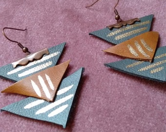 Triangle Stack Earring