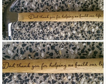 Personalised hammer - Fathers Day - Father of the bride gift