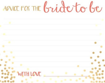 Marriage Advice Card | Party Goodies & Supplies | Bridal Shower
