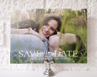 Photo Save the Date Card + Envelopes