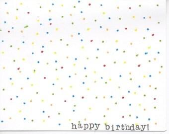Colorful polka dot handmade happy birthday