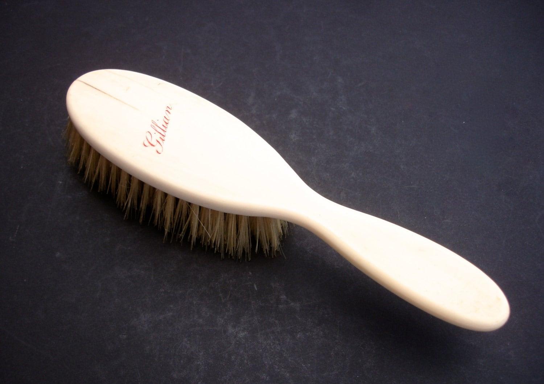 Gillian Bone Hair Brush Vintage Vanity Vintage Hairbrush