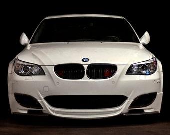 Poster of BMW E60 M5 White Front HD Print
