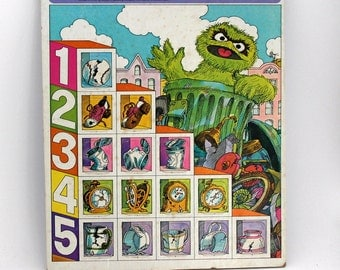 Sesame Street Puzzle,  Oscar the Grouch Trash Collection