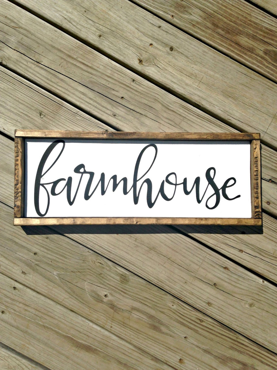 Farmhouse sign farmhouse decor wood by woodenthatbesomethin for Decor market reviews