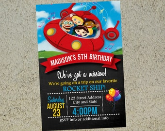Little Einsteins Birthday Invitation Little Einsteins Invitation Little Einsteins Invite Free Thank you Card Included