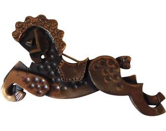 Carousel Hobby Horse Pin Vinatage Rebajes 1950