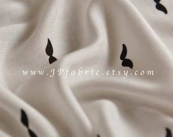 Mustache Fabric. Mustache Printed Viscose Fabric. By half meter. JP100093