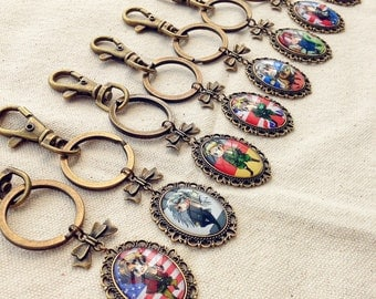 APH , Hetalia , Axis Powers , Every country keychain